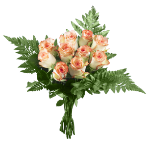 Bouquet de roses saumon